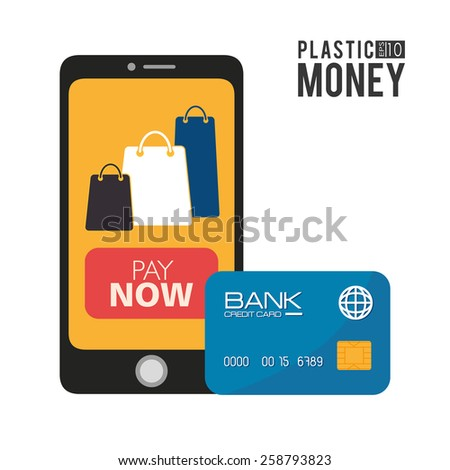 Payment design over white background,vector illustration. - stock vector