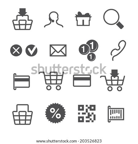 payment icons set - stock vector