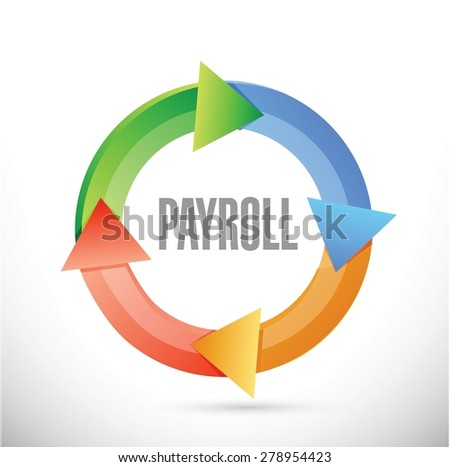 payroll cycle sign concept illustration design over white - stock vector
