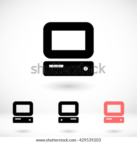 PC Icon, PC icon flat, PC icon picture, PC icon vector, PC icon EPS10, PC icon graphic, PC icon object, PC icon JPEG, PC icon picture, PC icon image, PC icon drawing, PC icon illustration - stock vector