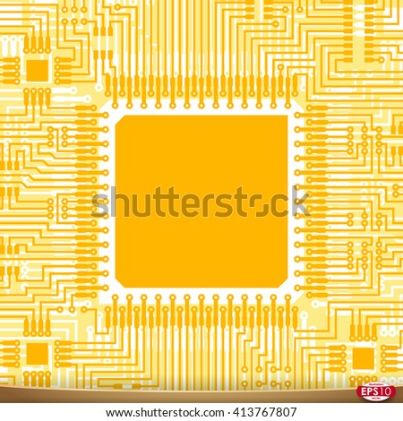 PCB wiring scheme. Vector pcb electrical background. Computer motherboard abstract PCB. Tech PCB equipment. Electrical abstract circuit pcb scheme. PCB. Modern pcb background. PCB engineering. - stock vector