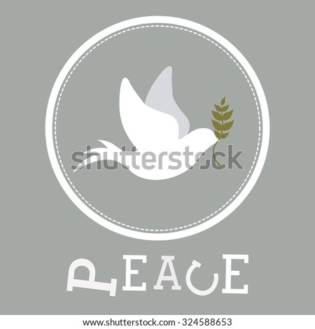 peace concept with dove design, vector illustration eps 10 - stock vector