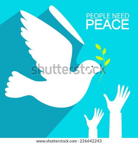 Peace dove. Vector illustration - stock vector