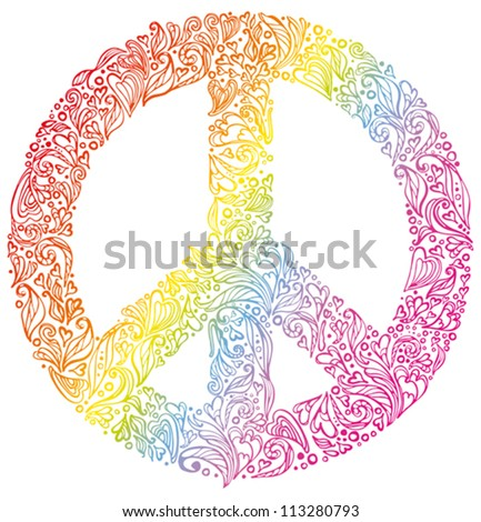 Peace sign. Beautiful symbol of peace. - stock vector