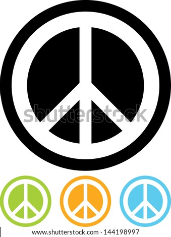 Peace sign vector isolated - stock vector