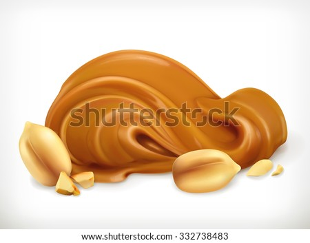 Peanut butter, vector icon - stock vector