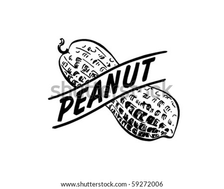 Peanut - Retro Clip Art - stock vector