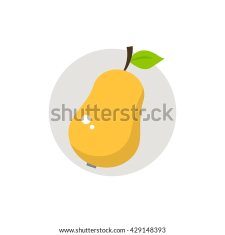 Pear icon. Pear icon flat. Pear icon art. Pear icon flat illustration. Pear icon vector. Pear icon vector image.  - stock vector