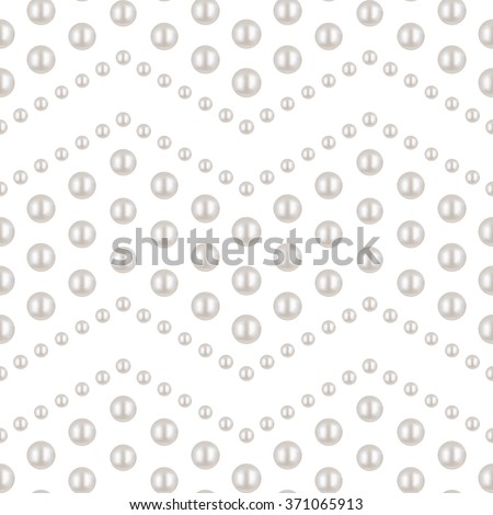 Pearl. White pearl Seamless Pattern. Wave pattern. Beautiful 3D Pearl texture. Pearl Realistic Vector Illustration. Shiny natural pearl with light effects. Wedding theme. Abstract Vector background. - stock vector