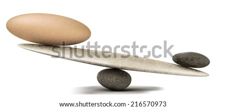 Pebble stability scales with large and small stones vector illustration - stock vector