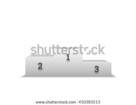 Pedestal for winners, podium isolated on white background - stock vector