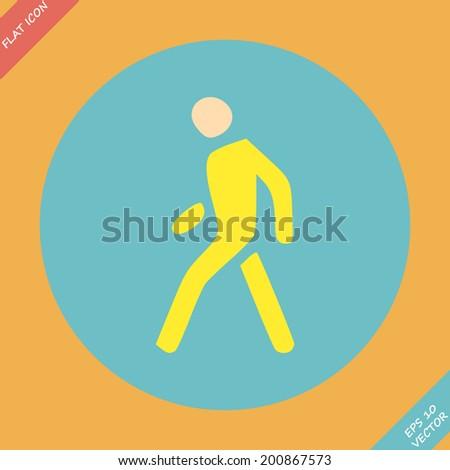 Pedestrian symbol  - vector illustration. Flat design element - stock vector
