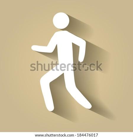 Pedestrian symbol, walking vector illustration - stock vector