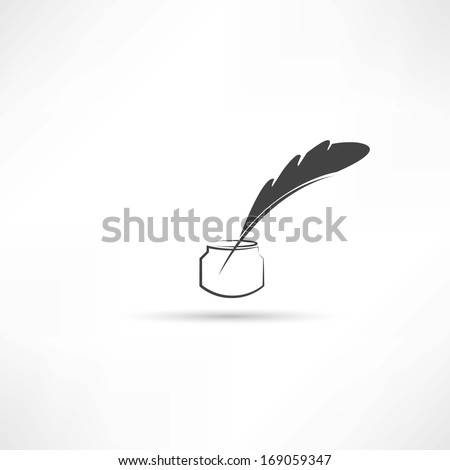 pen for writing icon - stock vector