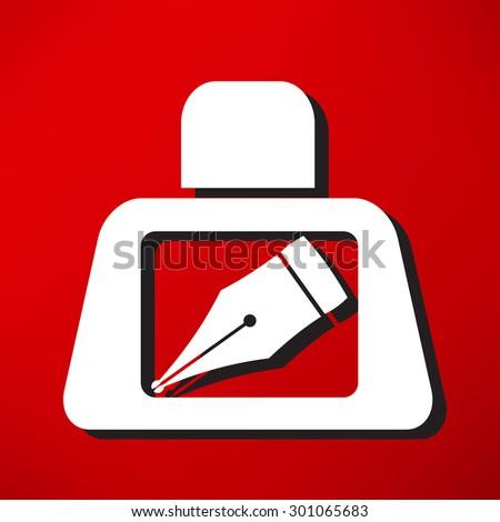 pen icon - stock vector