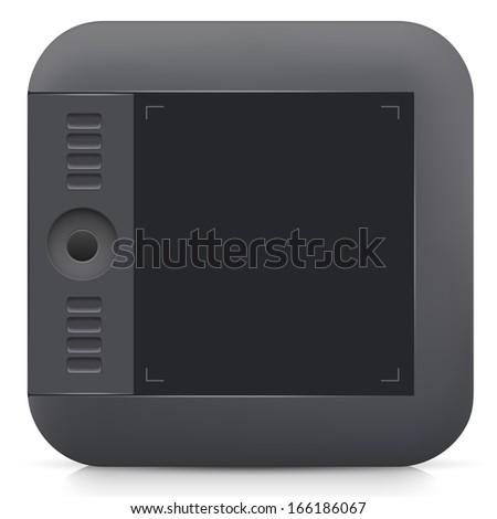 pen tablet icon - stock vector
