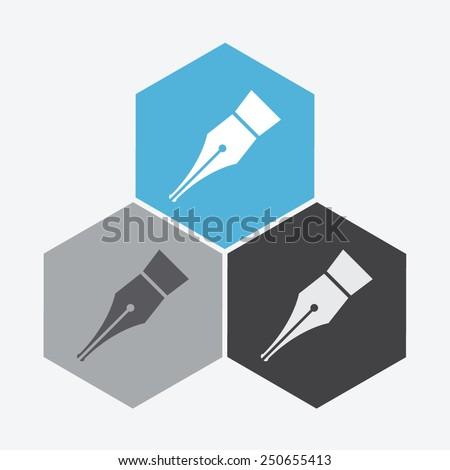 Pen vector icon.  - stock vector