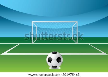penalty area - stock vector