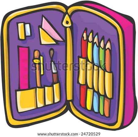 Pencil Case - stock vector