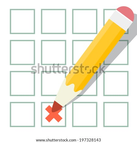 Pencil Check Option Vector Illustration - stock vector