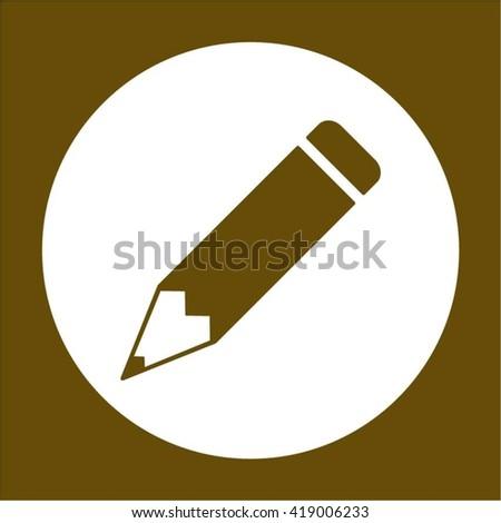 Pencil Icon / Pencil Icon Vector / Pencil Icon Picture / Pencil Icon Drawing / Pencil Icon Image / Pencil Icon Graphic / Pencil Icon Art / Pencil Icon JPG / Pencil Icon JPEG / Pencil Icon EPS - stock vector