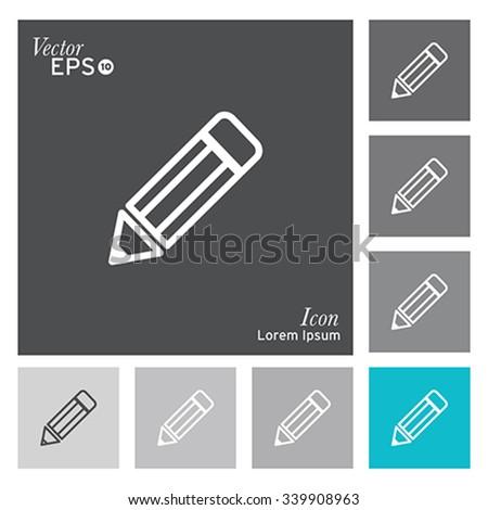 Pencil icon - vector, illustration. - stock vector
