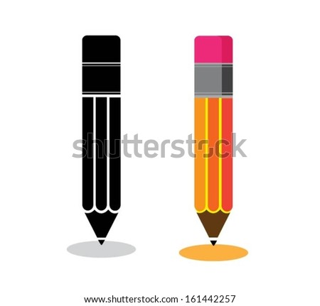 Pencil icons - stock vector