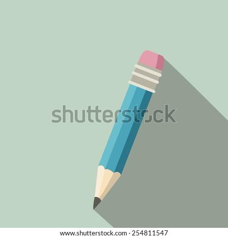 pencil in retro style - stock vector