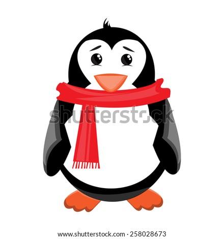 Penguin illustration - stock vector