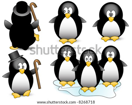 Penguin vector. - stock vector