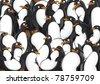 Penguins pattern - stock vector