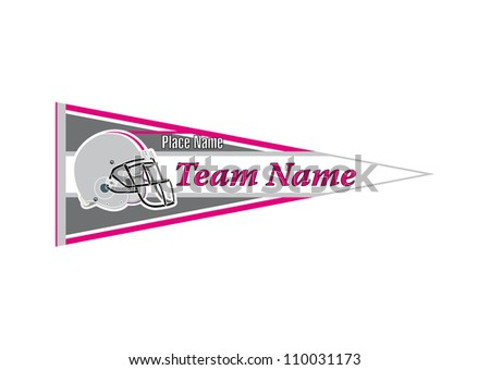 Pennant Sports Helmet football - stock vector