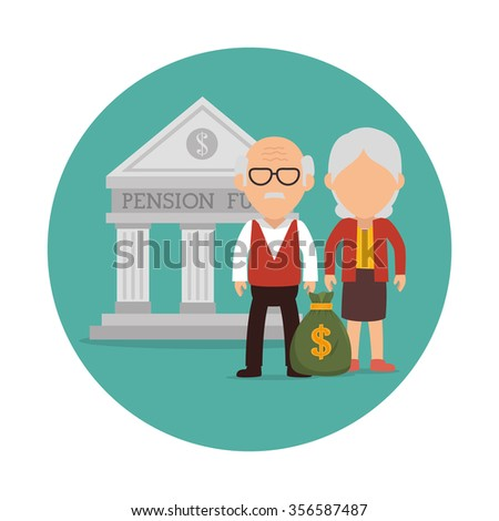 Pension funding graphic design, vector illustration eps10 - stock vector