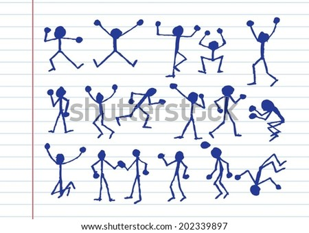 people activity  icons in illustration - stock vector