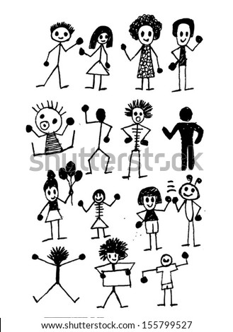 people activity Vector illustration - stock vector