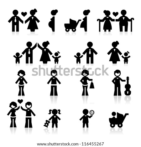 People and family - stock vector