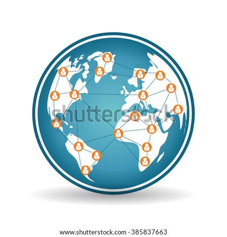 People and social network design  - stock vector