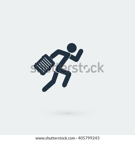 People bag icon - stock vector
