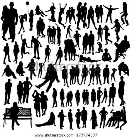 People-big-set-2 - stock vector