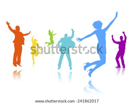 Gallery For > Crowd of People Celebrating Clipart