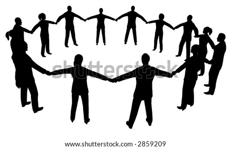 people circle multisex - stock vector