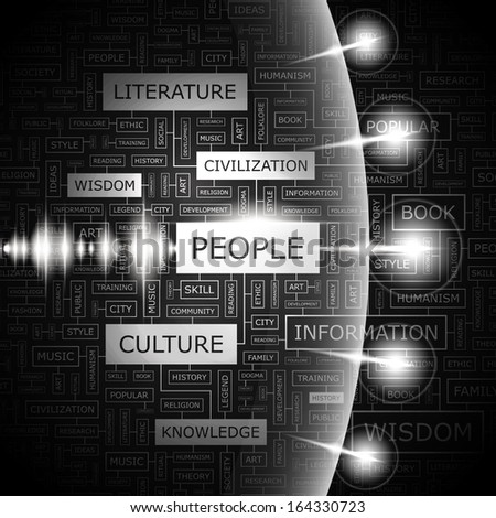PEOPLE. Concept illustration. Graphic tag collection. Word cloud collage. Vector illustration.  - stock vector