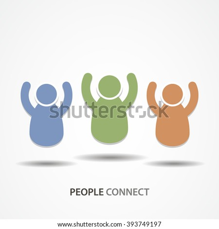 People connect icon or sign - stock vector