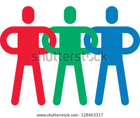 People Connecting - stock vector