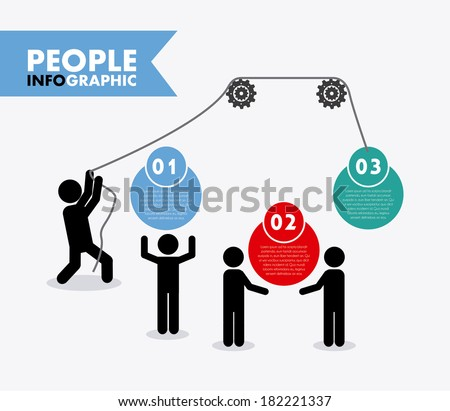 People design over gray background, vector illustration - stock vector