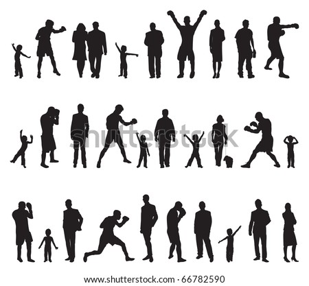 people different poses - stock vector