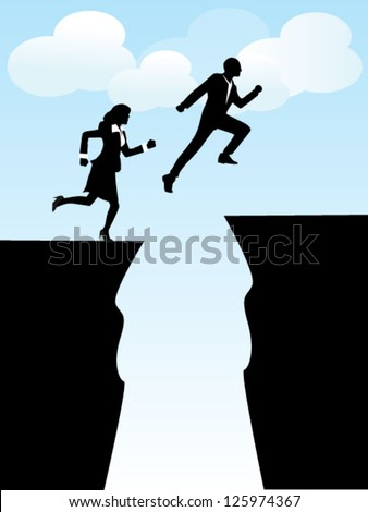people flying - stock vector
