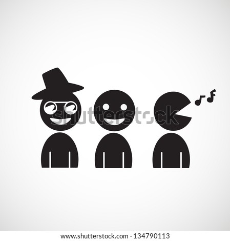 people icon vector - stock vector