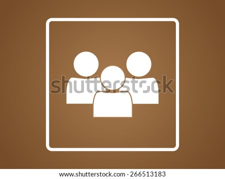 people icon, vector illustration. sign style - stock vector