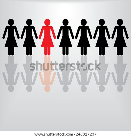 People Icon Woman - stock vector